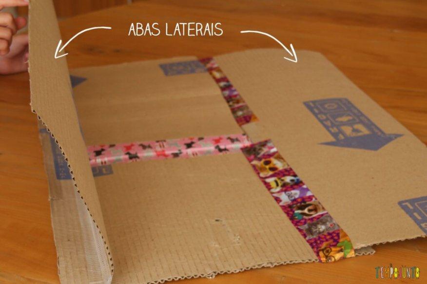 Brinquedo caseiro - como fazer um dobrador de camisa com abas laterais