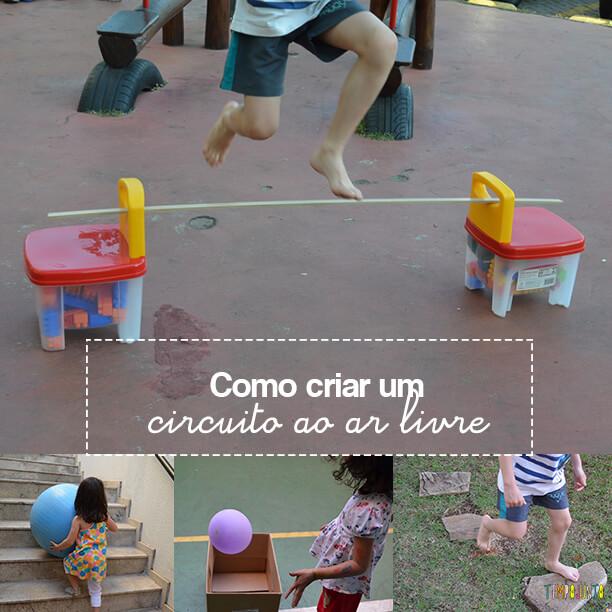 Como criar uma brincadeira de circuito para as crianças