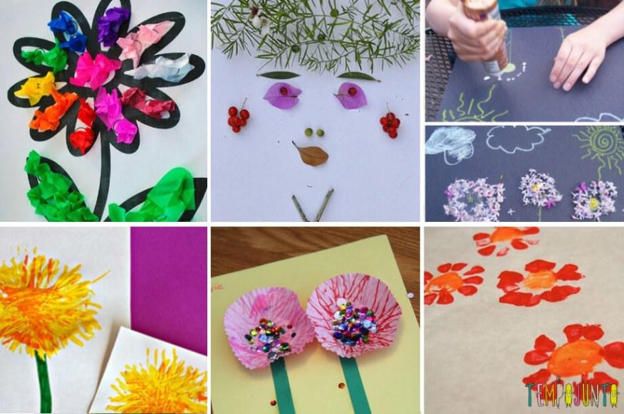15 ideias criativas para fazer arte com flores - ideias com flores e folhas para a primavera