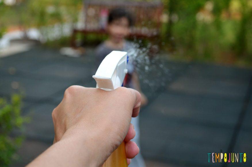 Brincadeiras ao ar livre para quem tem só 15 ou 20 minutinhos - esguicho