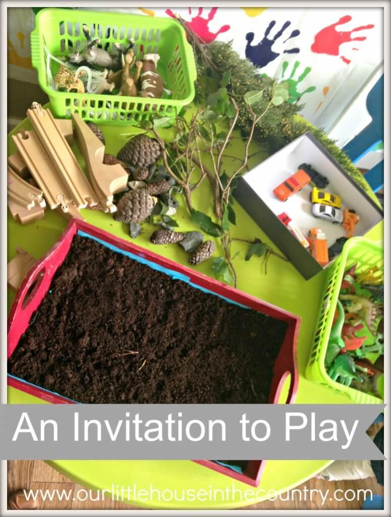 Convites para brincar que eu gostaria de ter feito - natureza e brinquedos