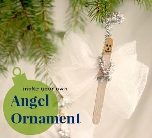 20 ideias para fazer enfeites de natal com as crianças - anjo de palito de picole