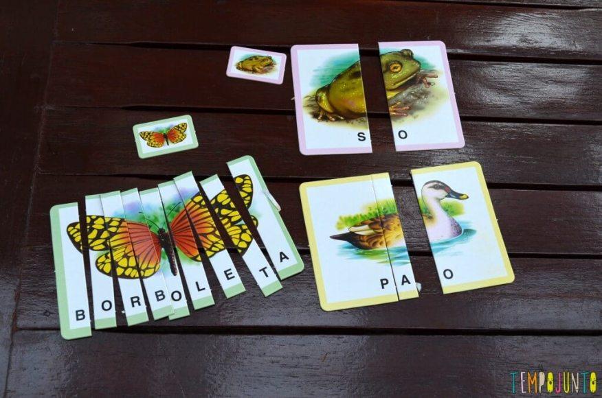 brincar com seu filho para aprender novas palavras - cartas jogo soletrando 1