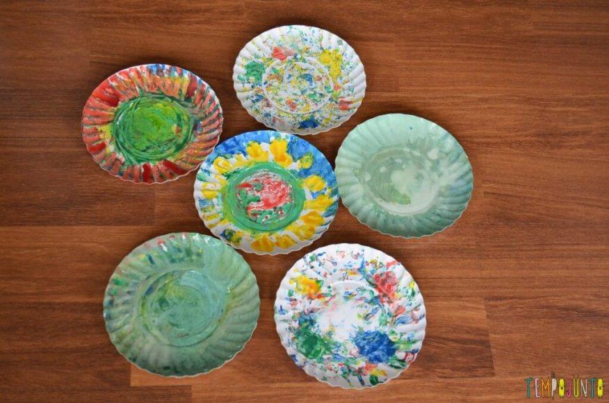Lembrança de Natal para fazer com as crianças - pratos pintados