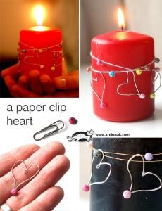 10 ideias de presentes simples e criativos para você fazer - coração de clip