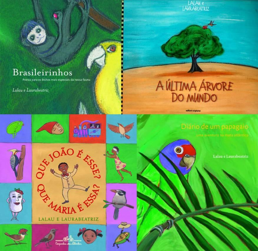 A brincadeira na forma de poesia de Lalau e Laurabeatriz - montagem livros