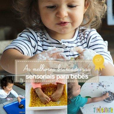 As melhores brincadeiras sensoriais para bebês de 18 a 24 meses