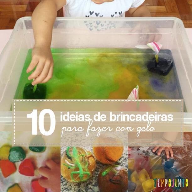10 ideias de brincadeiras para fazer com gelo