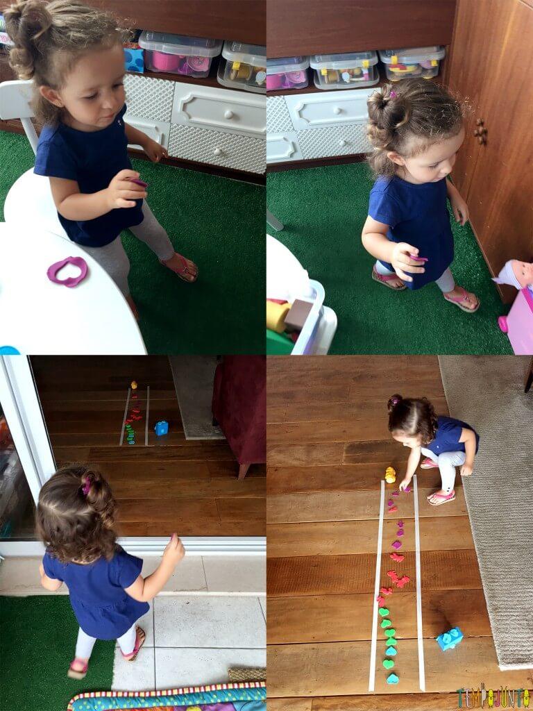 Brincadeira para crianças de 2 anos - gabi brincando com outras formas