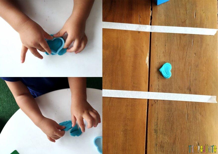 Brincadeira para crianças de 2 anos - gabi fazendo coraçoes