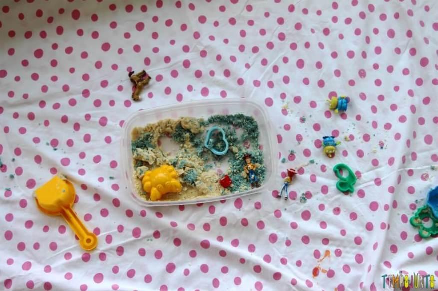 Como fazer areia caseira - bagunca final