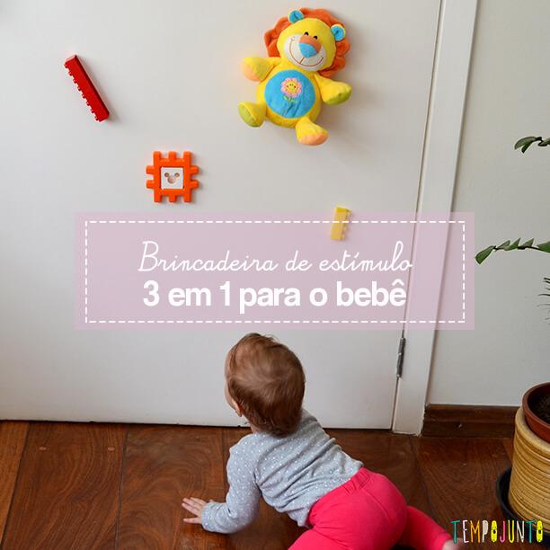 Brincar de alcançar os objetos estimula vários aspectos do bebê