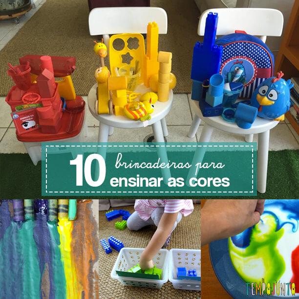 10 ideias de brincadeiras coloridas