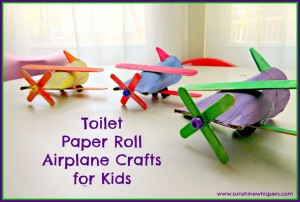10 maneiras de brincar de avião - aviao de rolo de papel higienico e palito