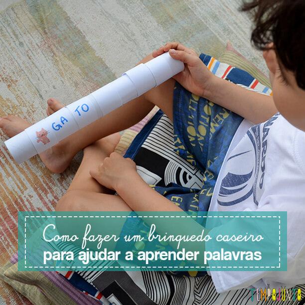 Brinquedo que ajuda a formar e ler as primeiras palavras