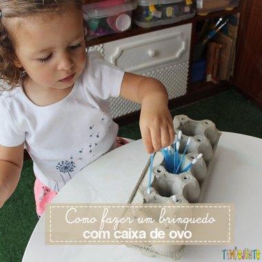 Como fazer um brinquedo com uma caixa de ovo