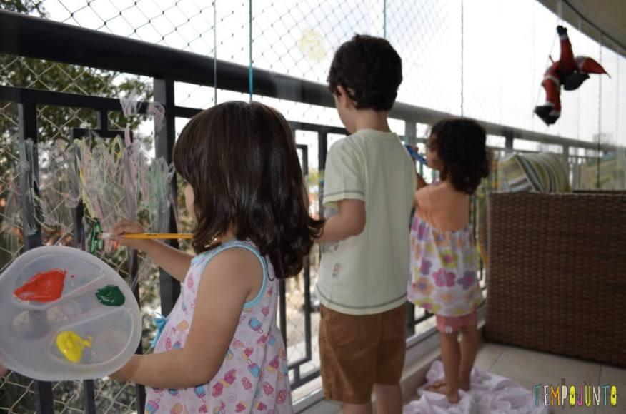 Semana mundial do brincar - lugares inusitados - varanda