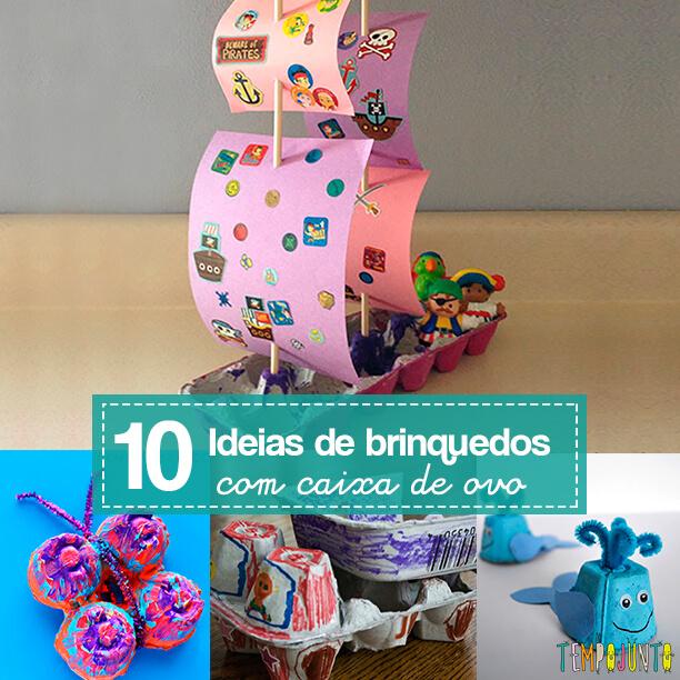 10 ideias de brinquedos caseiros com caixa de ovo - capa