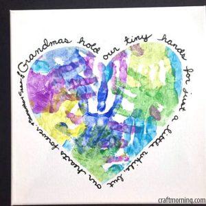 10 ideias de como fazer um presente para os avos - coração pintado