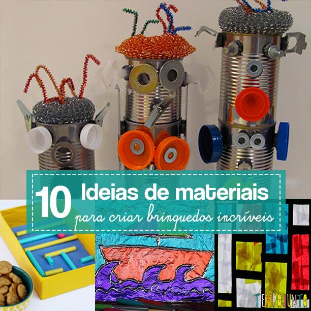 10 materiais simples para fazer brincadeiras incríveis para as crianças - capa