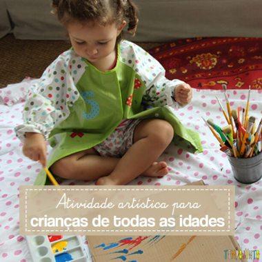 Atividade de artes para crianças de todas as idades