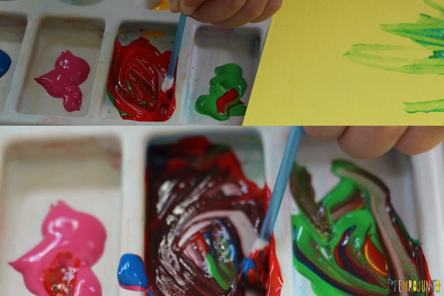 Pintura com cotonete, um jeito diferente dos pequenos fazerem arte - gabi criando cor