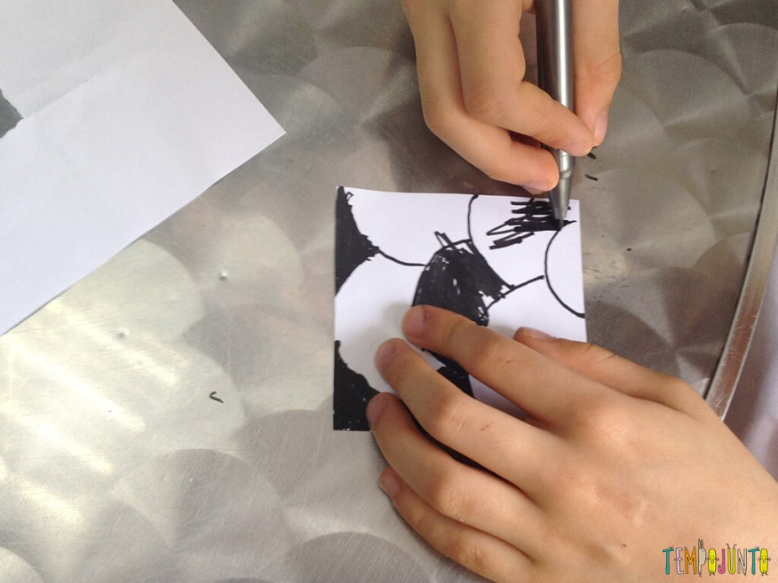 Desenhar natureza - henrique desenhando