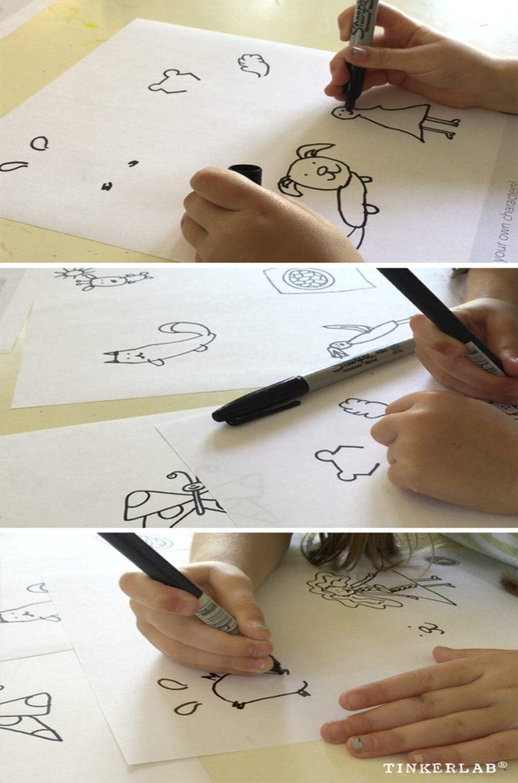 Brincar de desenhar - desenhe seu proprio personagem