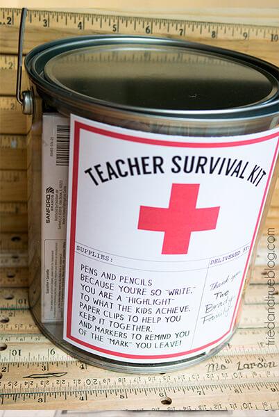 10 sugestões de presentes caseiros para o Dia dos Professores - kit de sobrevivencia