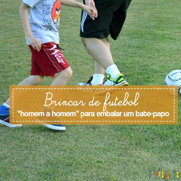 """Brincar de futebol """"homem a homem"""" para embalar um bate-papo"""