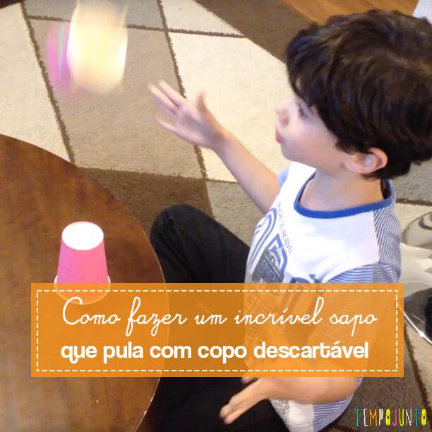 Aprenda a fazer um incrível brinquedo com copo descartável