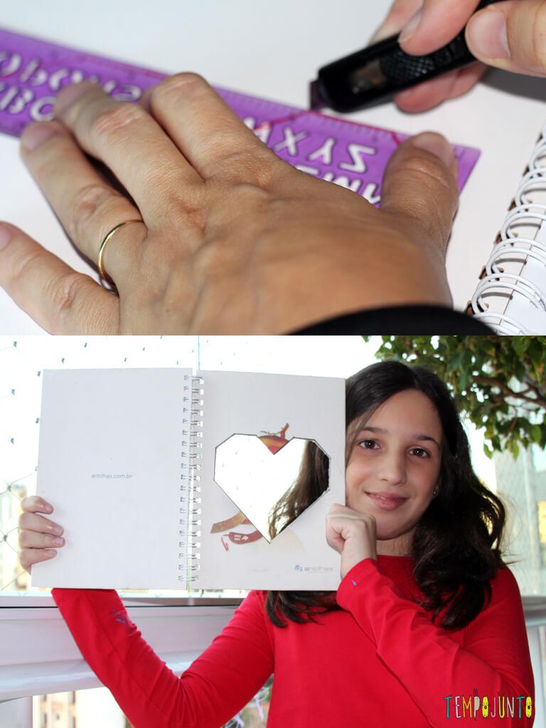Como customizar um caderno com as criancas_7111_7125_recorte do coracao e resultado