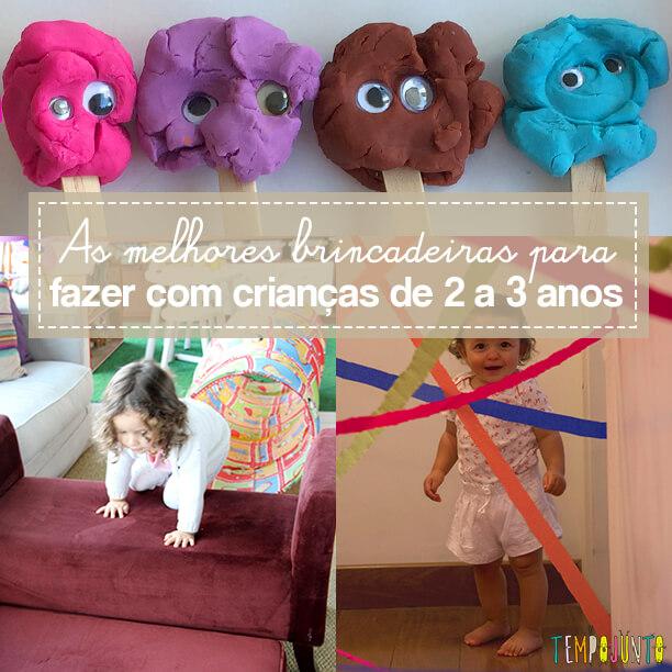 10 brincadeiras para crianças de 2 anos – parte 2