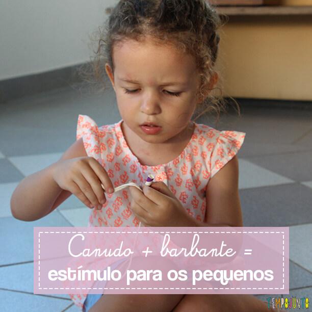 Brincadeira para estimular a coordenação motora fina de crianças