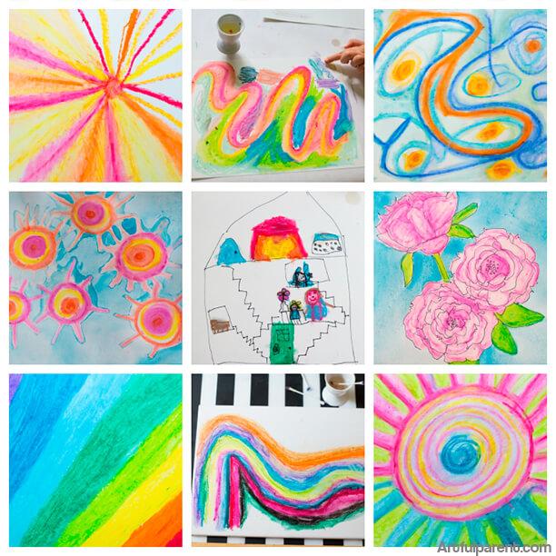10 ideias de artes para fazer com crianças - giz pastel
