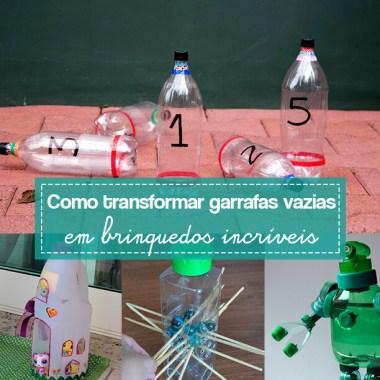 10 ideias de brinquedos feitos com garrafas plásticas