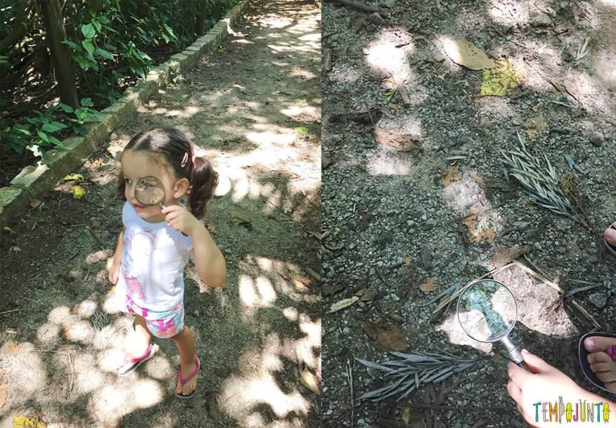 Brincadeiras na pracinha com crianças pequenas - gabi com a lupa