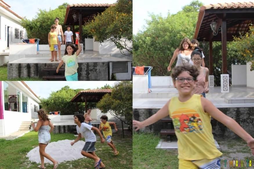 Ideias para organizar uma gincana para crianças grandes - tocha olimpica