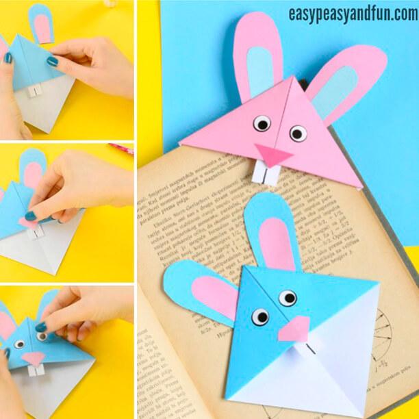 10 ideias para a pascoa - marcador de livro