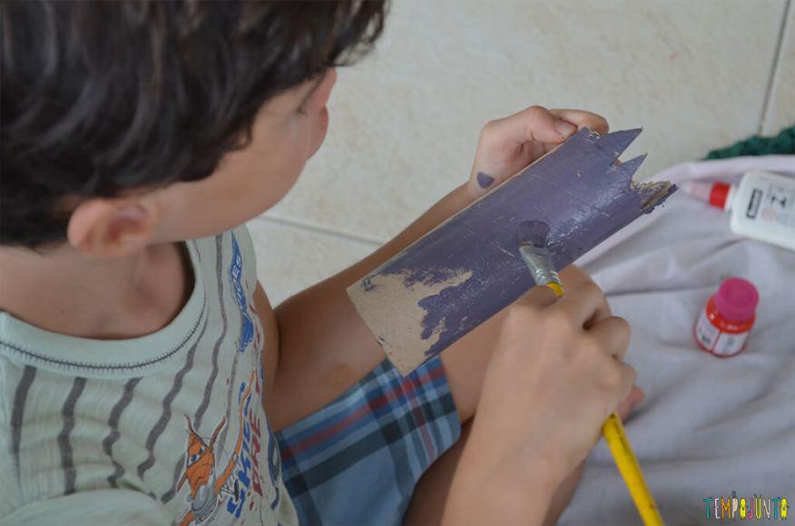 Pokemon - henrique pintando o rolo