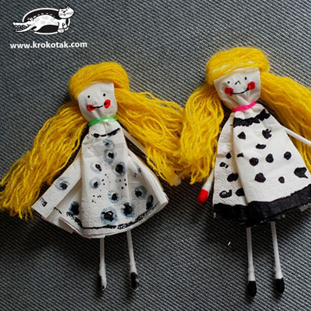 10 brinquedos caseiros - boneca de guardanapo