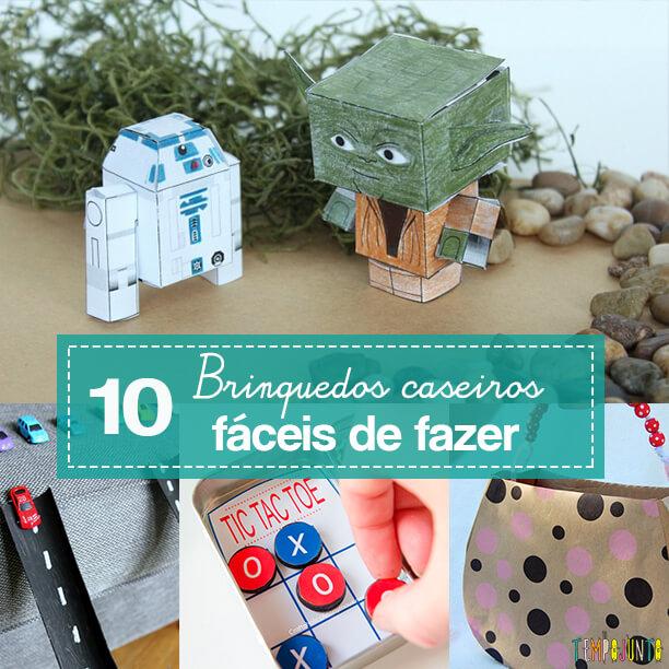 10 ideias de brinquedos caseiros faceis de fazer - capa