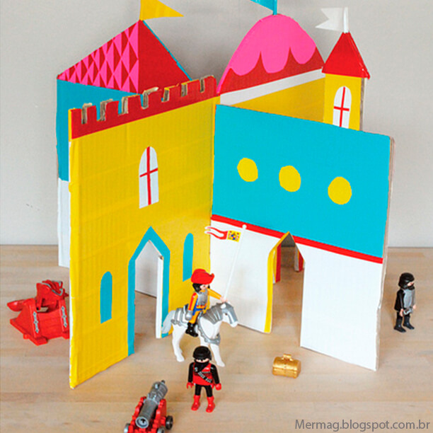 10 ideias de brinquedos caseiros faceis de fazer -Castelo de papelao