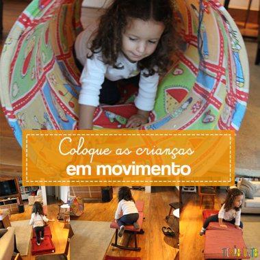 Circuito de atividades para crianças de todas as idades