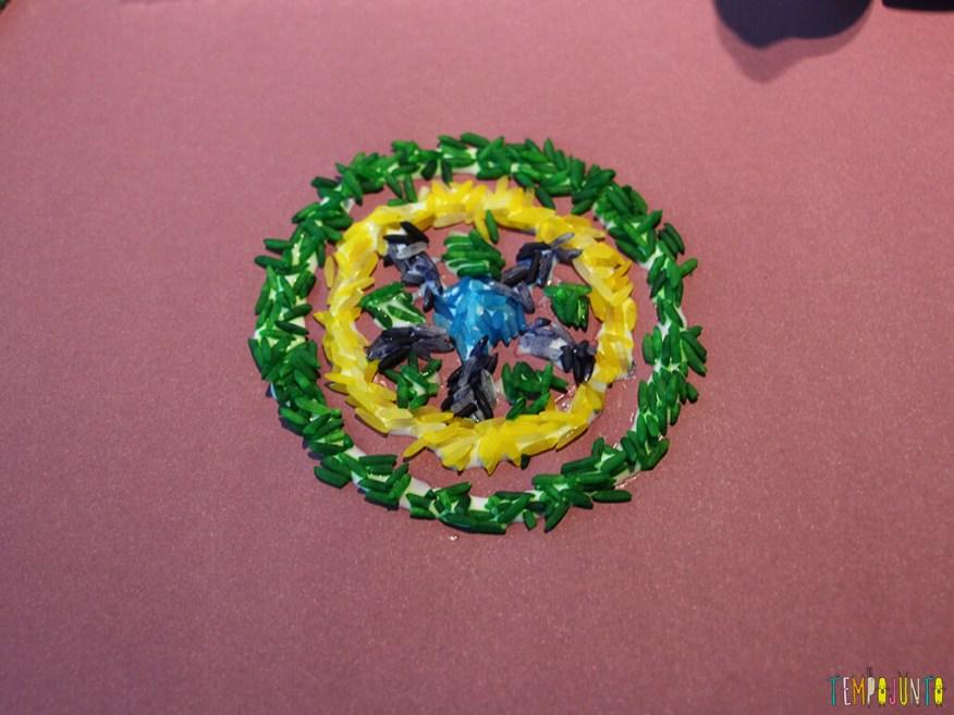 Mandala de arroz colorido - mandala pronta