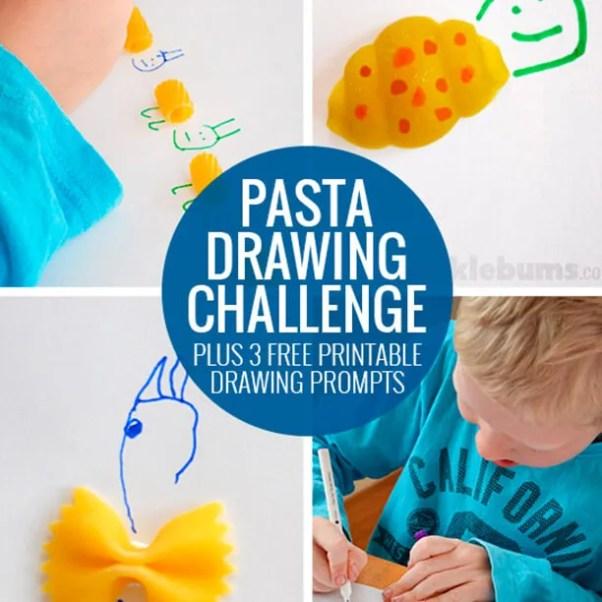 10 atividades de artes fáceis de fazer com as crianças - desenho com macarrao
