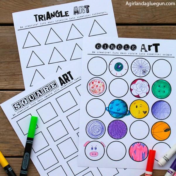 10 atividades de artes fáceis de fazer com as crianças - desenho geometrico