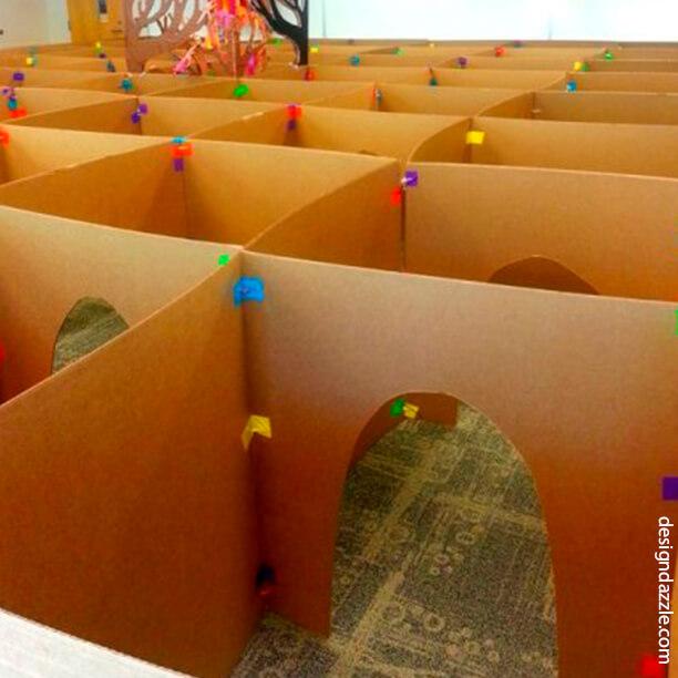 10 maneiras de fazer labirintos - labirinto caixa de papelao