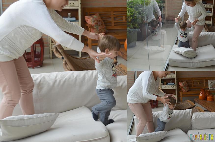 Porque almofadas são brinquedos ideais para você se divertir com seu bebê - sequencia mari e pietro 2