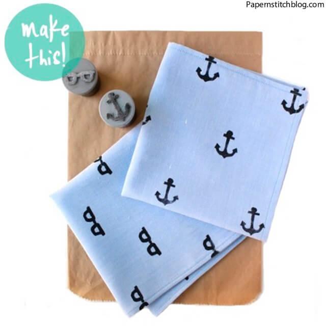 10 ideias criativas de presentes para o Dia dos Pais - lenco decorado